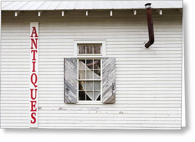 Antique Store Facade Greeting Card by Jeremy Woodhouse