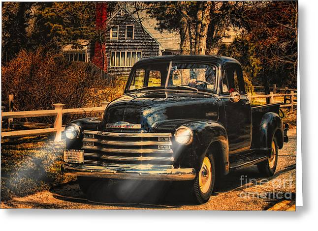 Antique Truckin Greeting Card