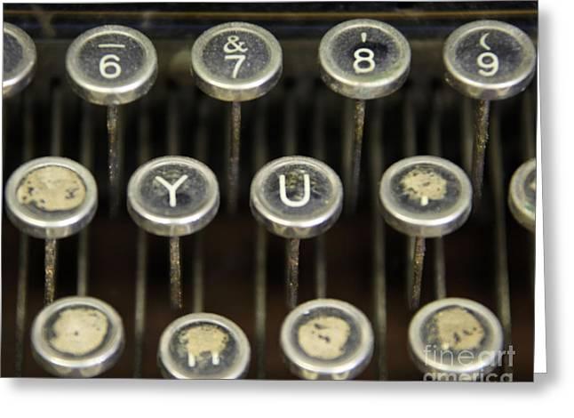 Antique Typewriter Buttons Greeting Card