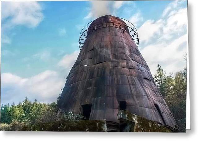 Greeting Card featuring the photograph Antique Wigwam Burner by Tyra  OBryant