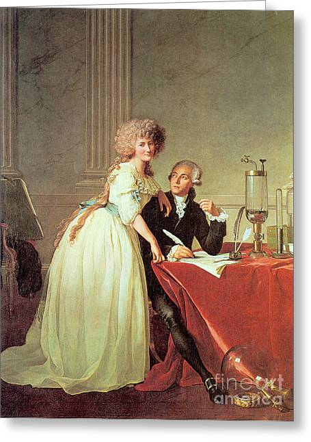 Antoine-laurent Lavoisier And His Wife Greeting Card