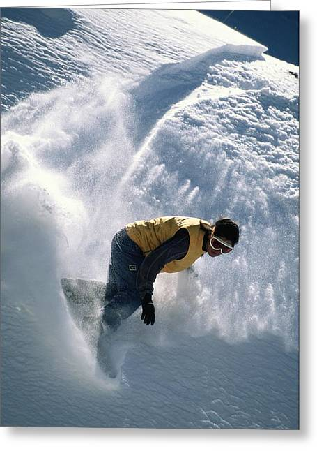 Antonio Davilla Snowboarding In The San Greeting Card