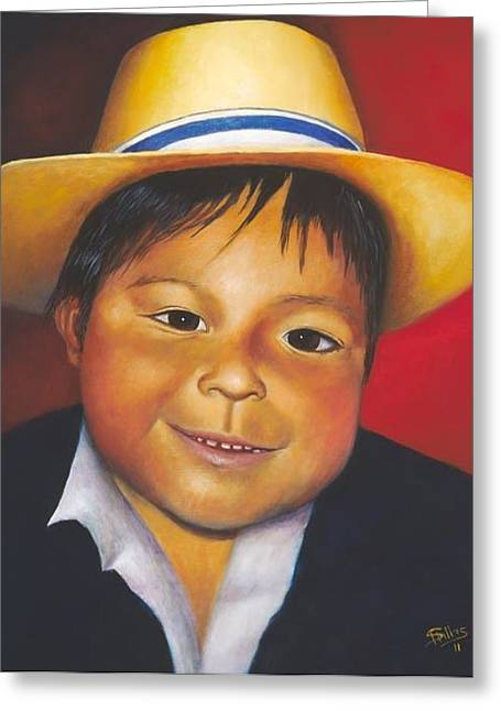 Antonio Greeting Card by Herman Sillas