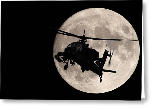 Apache In The Moonlight Greeting Card