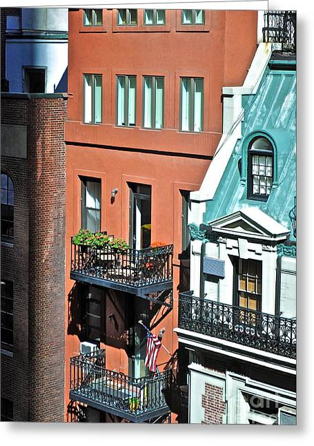 Apartments Near Moma Greeting Card by Gwyn Newcombe