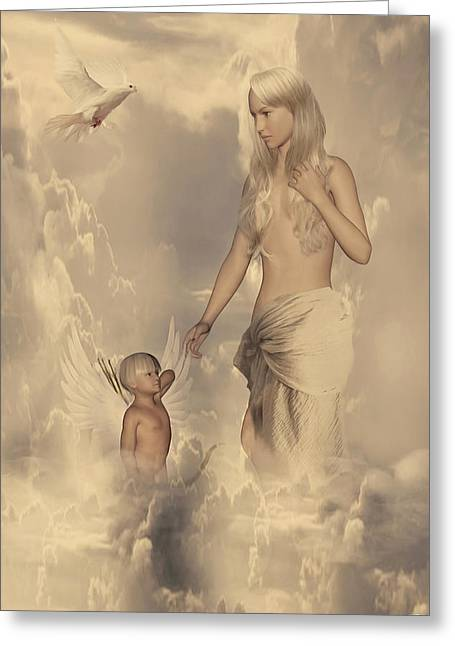 Aphrodite And Eros Greeting Card