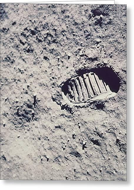 Apollo 11 Footprint Greeting Card by Nasa