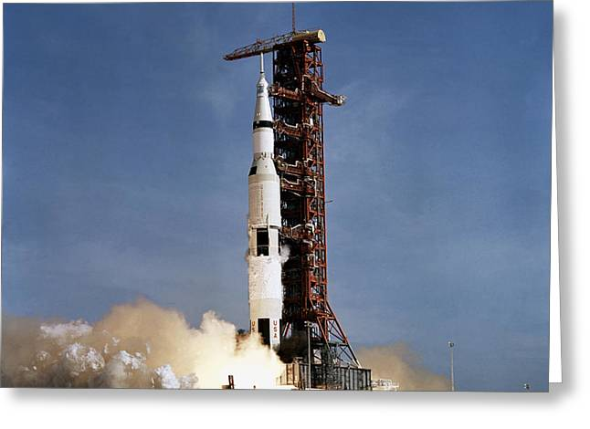 Apollo 11 Space Vehicle Taking Greeting Card