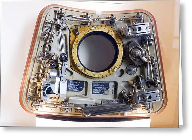 Apollo Command Module Hatch Greeting Card by Mark Williamson