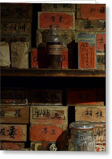Greeting Card featuring the photograph Apothecary by Newel Hunter