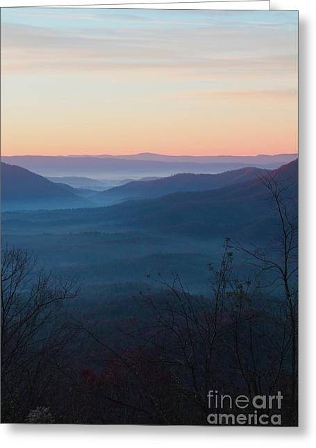 Greeting Card featuring the photograph Appalachian Sunrise by Laurinda Bowling