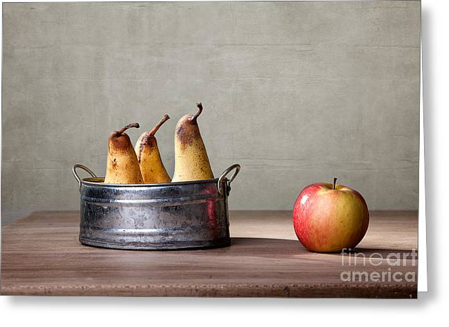 Apple And Pears 01 Greeting Card by Nailia Schwarz