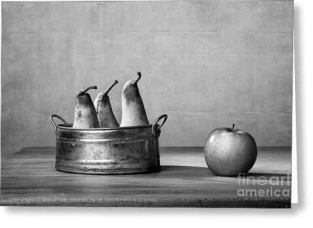 Apple And Pears 02 Greeting Card by Nailia Schwarz