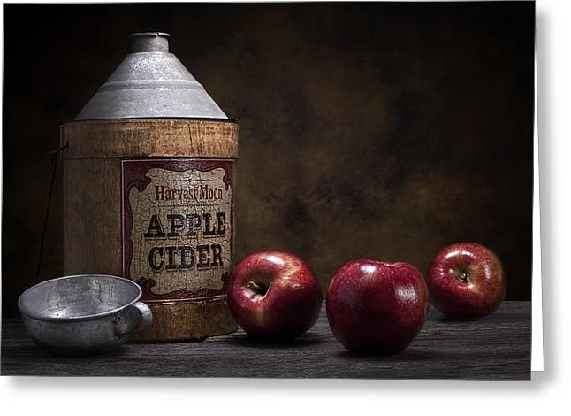 Apple Cider Still Life Greeting Card by Tom Mc Nemar