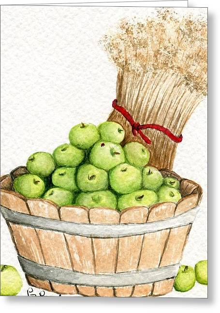 Apple Crate Greeting Card