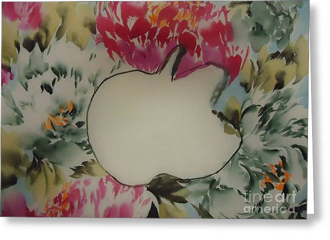 Greeting Card featuring the painting Apple by Dongling Sun