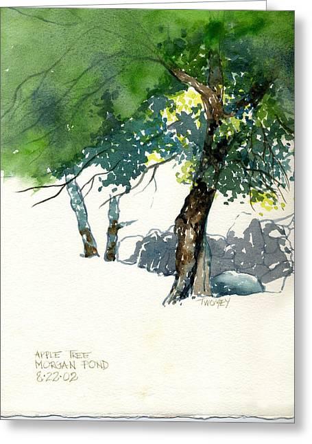 Apple Tree Morgan's Pond Greeting Card