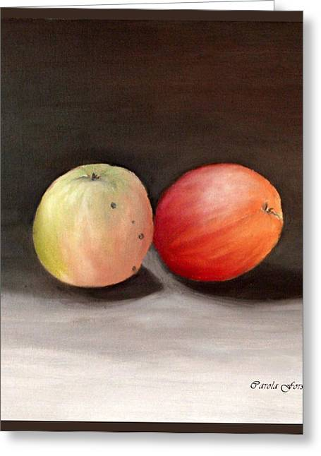 Apples Still Life Greeting Card by Carola Ann-Margret Forsberg