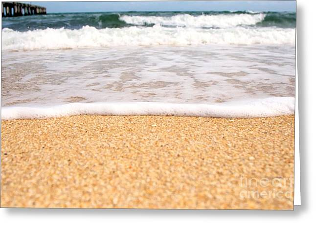 Approaching Wave Greeting Card by Hideaki Sakurai
