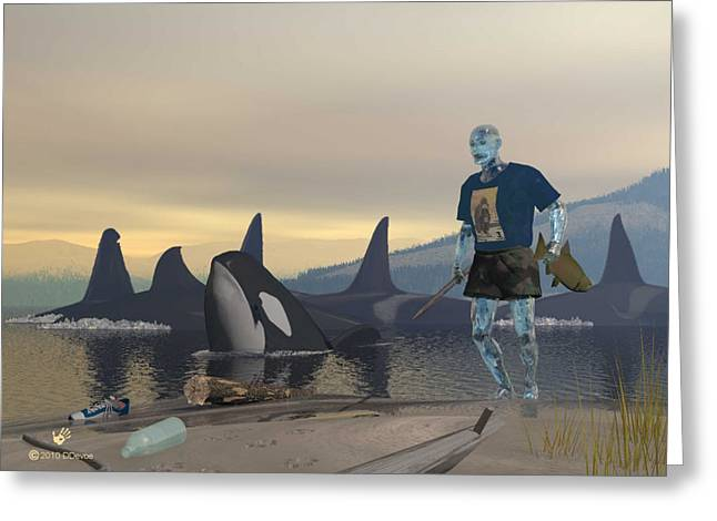 Aquaman Greeting Card by David Devoe