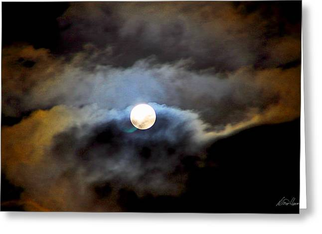 Aquarius Full Moon Greeting Card