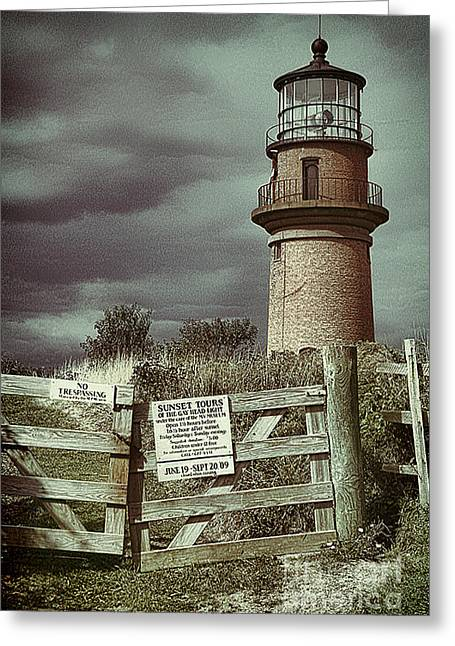 Greeting Card featuring the photograph Aquinah Light II Marthas Vineyard by Jack Torcello