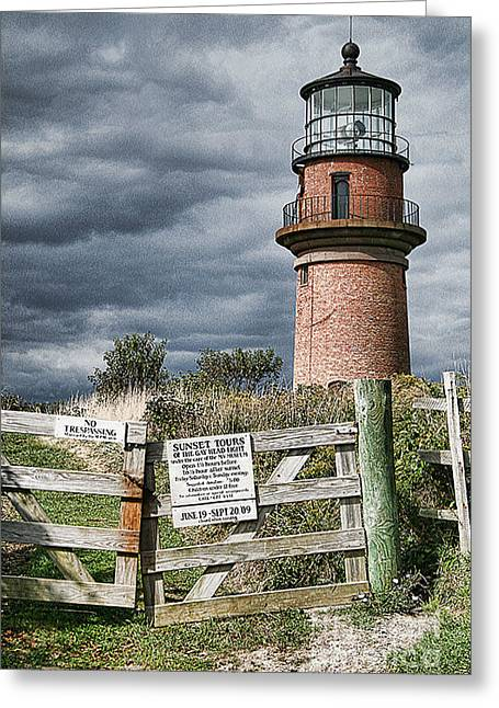 Greeting Card featuring the photograph Aquinnah Light I Marthas Vineyard by Jack Torcello