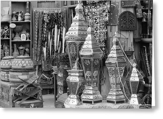 Arab Bazaar Greeting Card by Paul Cowan