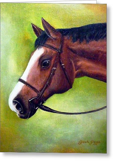 Arabian Horse Greeting Card by Gizelle Perez