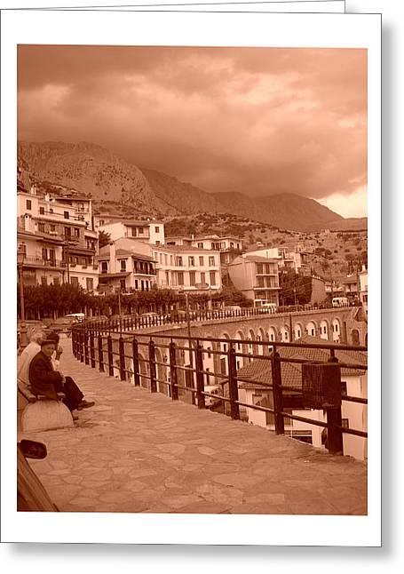 Arachova Greece Greeting Card