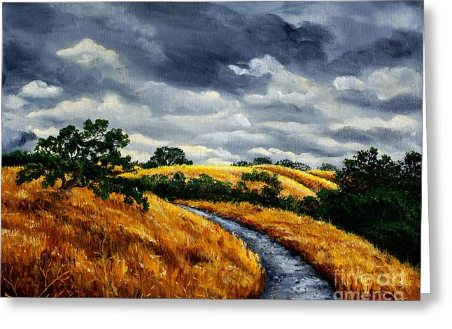 Arastradero Trail In Early Autumn Greeting Card