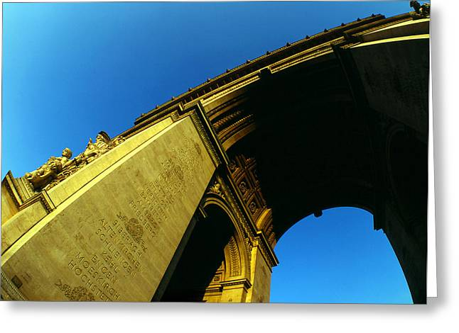 Greeting Card featuring the photograph Arc De Triomphe by David Harding