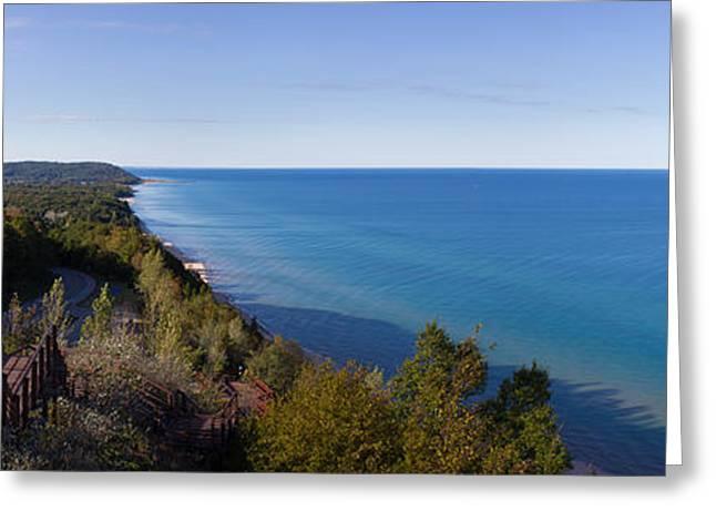 Arcadia Michigan Panorama Greeting Card by Twenty Two North Photography