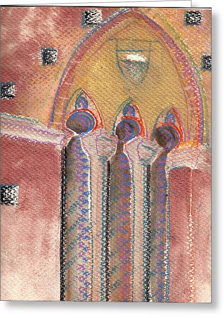 Arch In Italy Watercolor Greeting Card