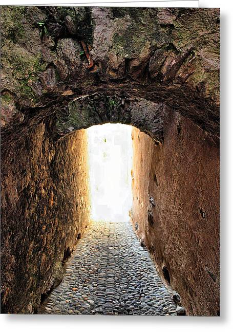 Arch In The Alley Greeting Card by Ettore Zani
