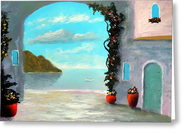 Arch To The Sea Greeting Card
