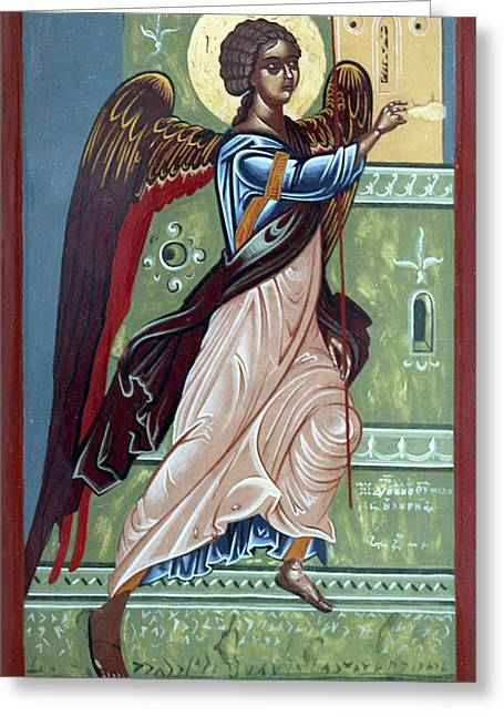 Archangel Gabriel Greeting Card by Anton Dimitrov