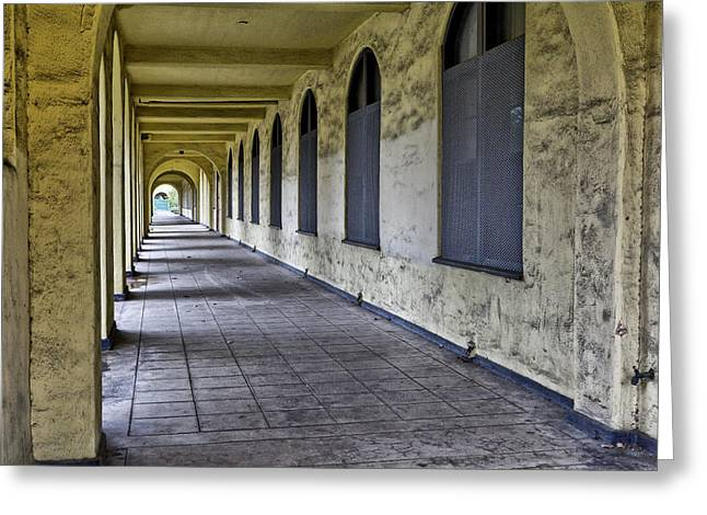 Arched Windows And Wall Greeting Card