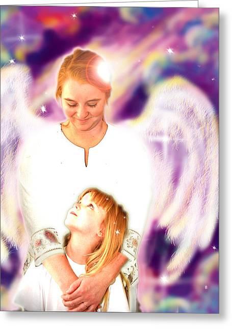 Archer. Angelic 4 Greeting Card by Nada Meeks