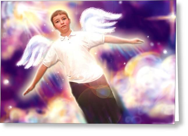 Archer. Angelic 5 Greeting Card by Nada Meeks