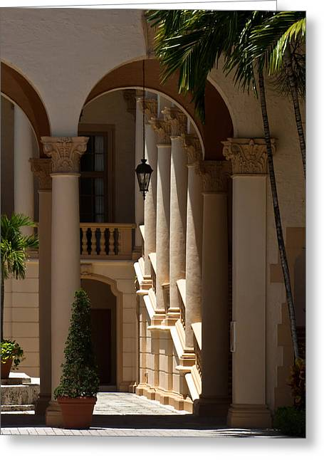 Greeting Card featuring the photograph Arches And Columns At The Biltmore Hotel by Ed Gleichman