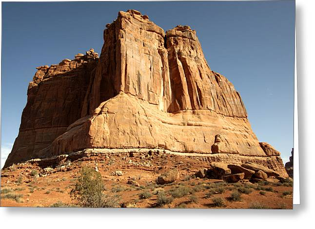 Arches N P The Courthouse Towers View Greeting Card by Paul Cannon