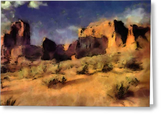 Arches National Monument-utah Greeting Card by Elaine Frink