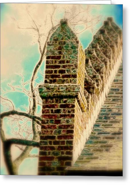 Architectural Art Greeting Card by Cindy Wright