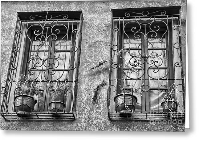 Architecture Bw I Greeting Card by Chuck Kuhn