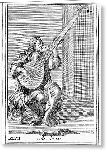 Archlute, 1723 Greeting Card by Granger