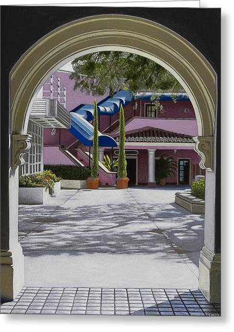 Archway In Sunlight Greeting Card