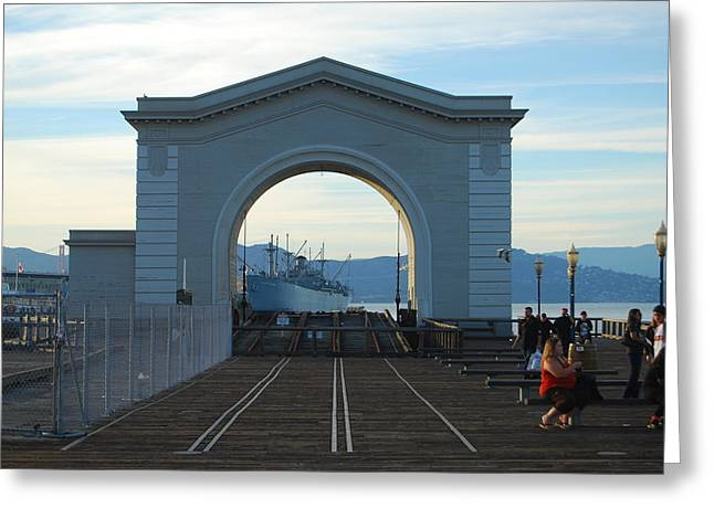 Archway Pier 39 San Francisco Greeting Card by Richard Adams