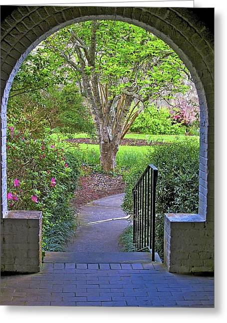 Greeting Card featuring the photograph Archway by Ralph Jones