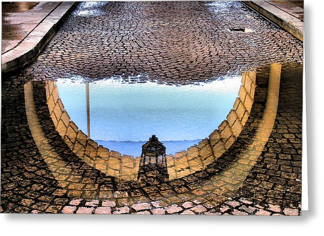Archway Reflections Greeting Card by Steven Ainsworth